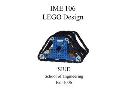 Lego Design - SIUE Robotics