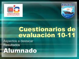 Cuestionarios de evaluación 08-09