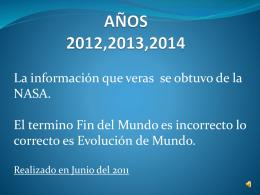 AÑOS 2012,1013,1014,2015