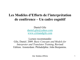 THE EFFORT MODELS – A COGNITIVE FRAMEWORK
