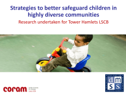 CORAM - London Safeguarding Children Board