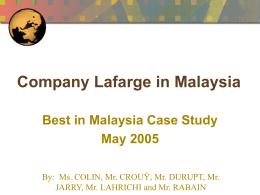 Lafarge in Malaysia