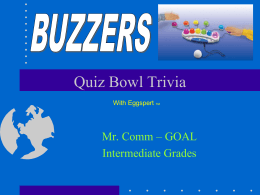 Quiz Bowl Trivia - Greater Latrobe School District