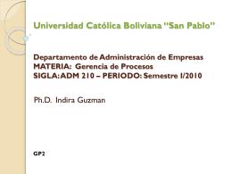 "Universidad Católica Boliviana ""San Pablo"""