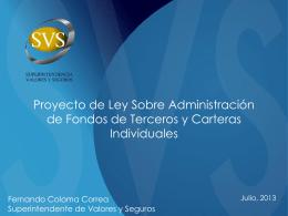 Proyecto de Ley Sobre Administración de Fondos de