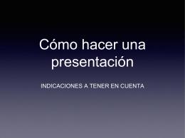 Cómo hacer una presentación