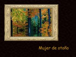 MUJER DE OTOÑO.