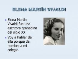 ELENA MARTÍN VIVALDI