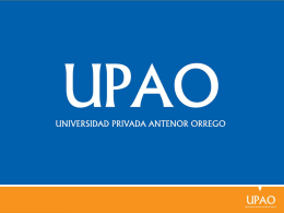 Diapositiva 1 - Universidad Privada Antenor Orrego