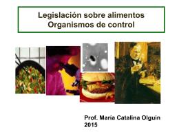 Legislación sobre alimentos Organismos de control