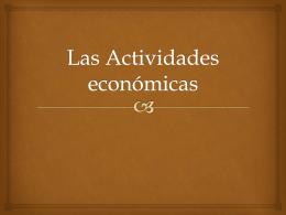Las Actividades económicas
