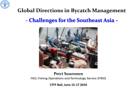 Global Directions in Bycatch Management and