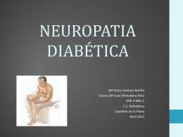 NEUROPATIA DIABÉTICA - Docencia Rafalafena |