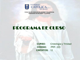 FACULTAD DE CIENCIAS RELIGIOSAS Y FILOSÓFICAS