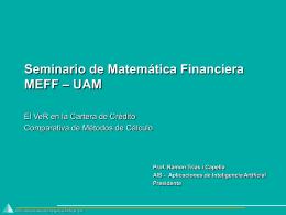 Seminario de Matemática Financiera MEFF – UAM