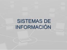 LOS SISTEMAS DE INFORMACIÓN