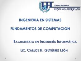 INGENIERIA EN SISTEMAS FUNDAMENTOS DE COMPUTACION