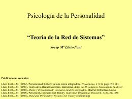 Psicología de la Personalidad Teoría de la Red de