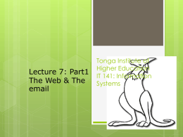 IT 141: Information Systems I