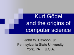 Kurt Gödel and the origins of computer science