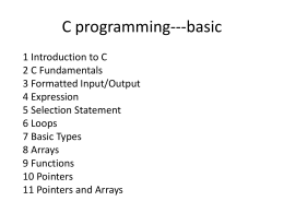C programming---basic - Georgia State University