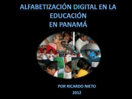 Alfabetización Digital en la Educación en Panamá