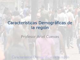 Características demográficas de la región