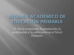 Régimen Académico de Educación Primaria