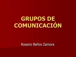 GRUPOS DE COMUNICACIÓN