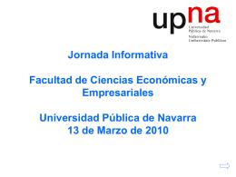 Jornada Informativa Facultad de Ciencias