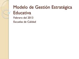 Modelo de Gestión Estratégica Educativa
