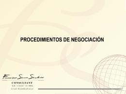 Procedimientos de Negociación
