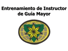 Requisitos de Instructor de Guías Mayores