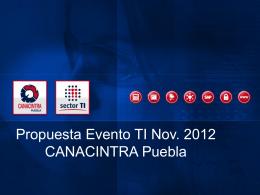 Presentación Sector TI CANACINTRA Puebla