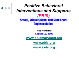 PBIS in Maryland