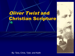 Oliver Twist and Christian Scripture