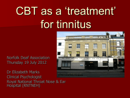 CBT as a 'treatment for tinnitus'