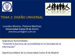 Tema 2: Diseño Universal