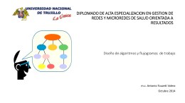 Diseño de algoritmos y flujogramas de trabajo -