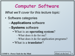 Computer Software - University of North Carolina
