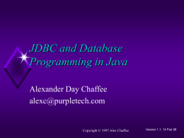 JDBC and Database Programming in Java