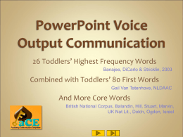 PowerPoint Voice Output Communication Aid