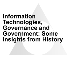 Information Technology and Governance in History