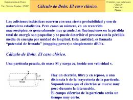 Cálculo de Bohr. El caso clásico.