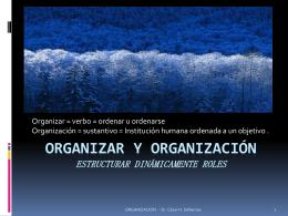 Organizar Y ORGANIZACIÓN estructurar dinámicamente
