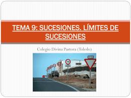 TEMA 9: SUCESIONES. LÍMITES DE SUCESIONES