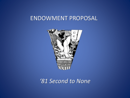 81 Second to None - USAFA `81 Endowment