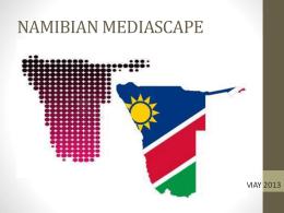 NAMIBIAN MEDIASCAPE - Svenska social