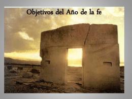 Objetivos del Año de la fe