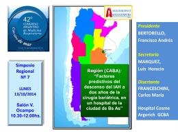 FACTORES PREDICTIVOS DEL DESCENSO DE IAH (índice